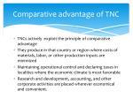 comparative advantage of tnc1