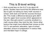 this is b level writing