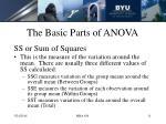 the basic parts of anova