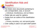 identification aids and supplies