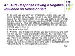 4 1 gps response having a negative influence on sense of self