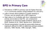 bpd in primary care