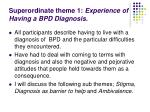 superordinate theme 1 experience of having a bpd diagnosis