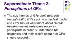 superordinate theme 2 perceptions of gps