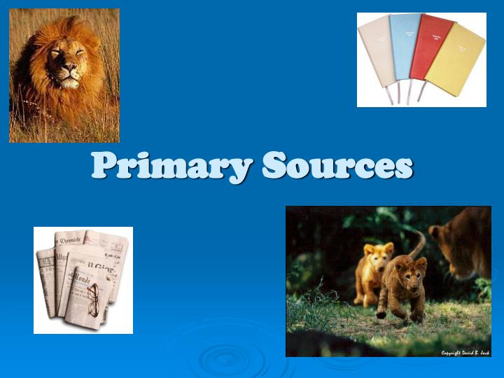 primary sources n.