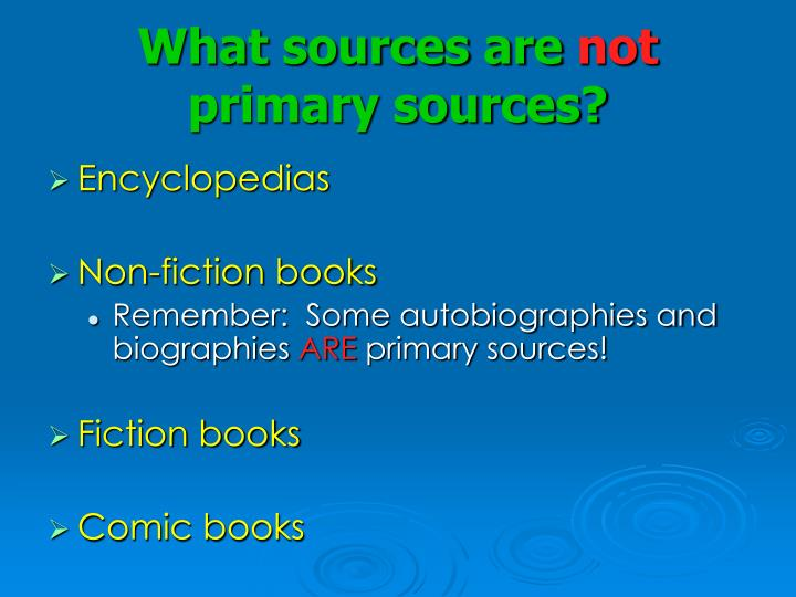 What sources are