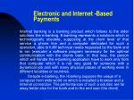 electronic and internet based payments