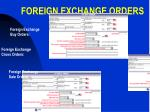 foreign exchange orders
