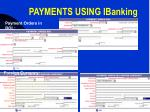 payments using ibanking