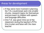 areas for development1