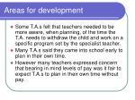 areas for development2