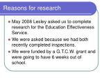 reasons for research