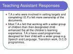 teaching assistant responses1