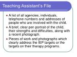 teaching assistant s file1