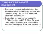 training and professional development1