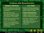 problems with reconstruction1