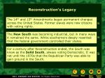 reconstruction s legacy
