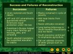 success and failures of reconstruction