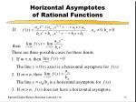 horizontal asymptotes of rational functions