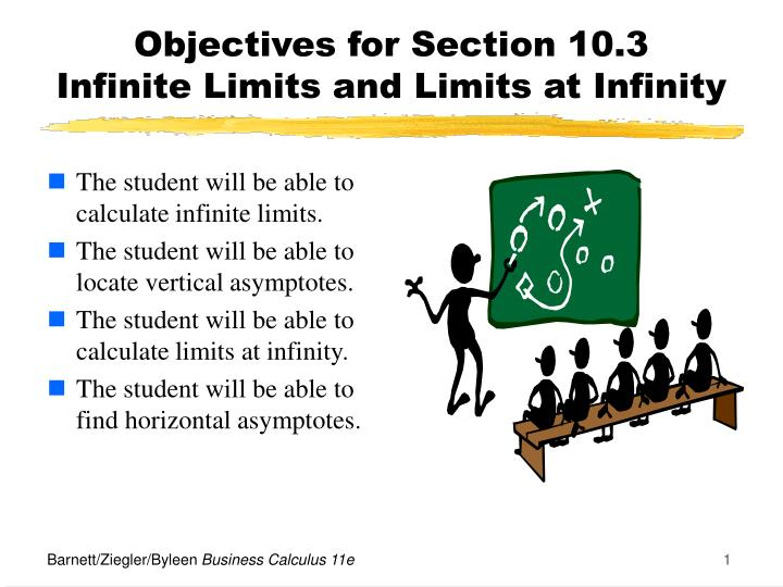 objectives for section 10 3 infinite limits and limits at infinity n.