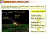 aster stereo observation