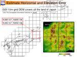 estimate horizontal and elevation error