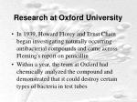 research at oxford university