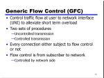 generic flow control gfc