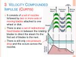 3 velocity compounded impulse curtis