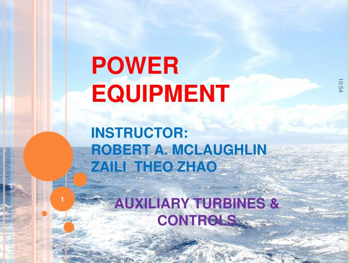 power equipment instructor robert a mclaughlin zaili theo zhao n.