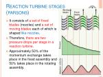 reaction turbine stages parsons