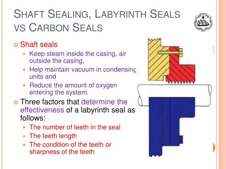 Shaft Sealing, Labyrinth Seals