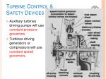 turbine control safety devices