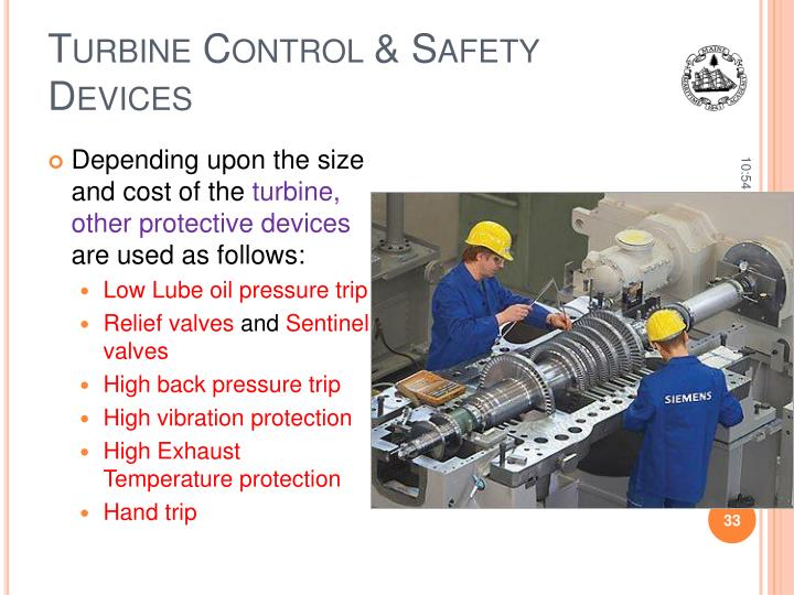 Turbine Control & Safety Devices