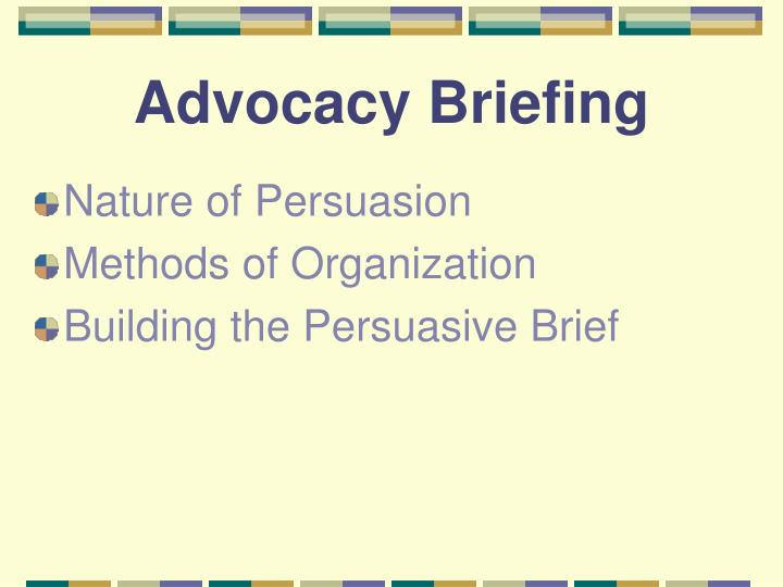 Advocacy briefing1