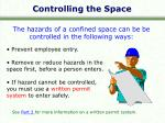 controlling the space