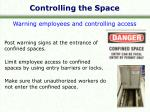 controlling the space1