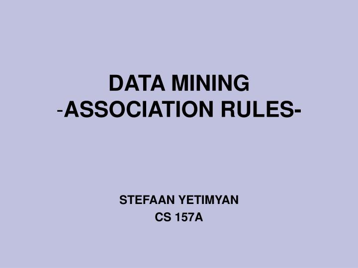 data mining association rules n.