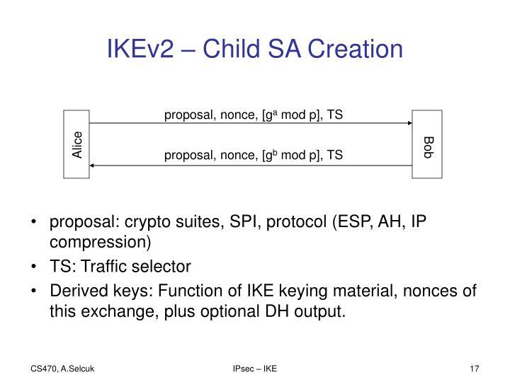 IKEv2 – Child SA Creation