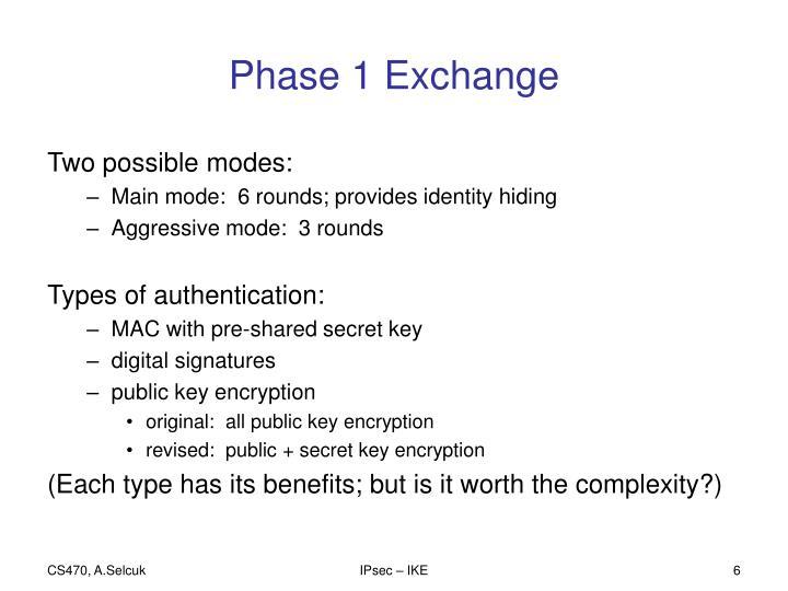 Phase 1 Exchange