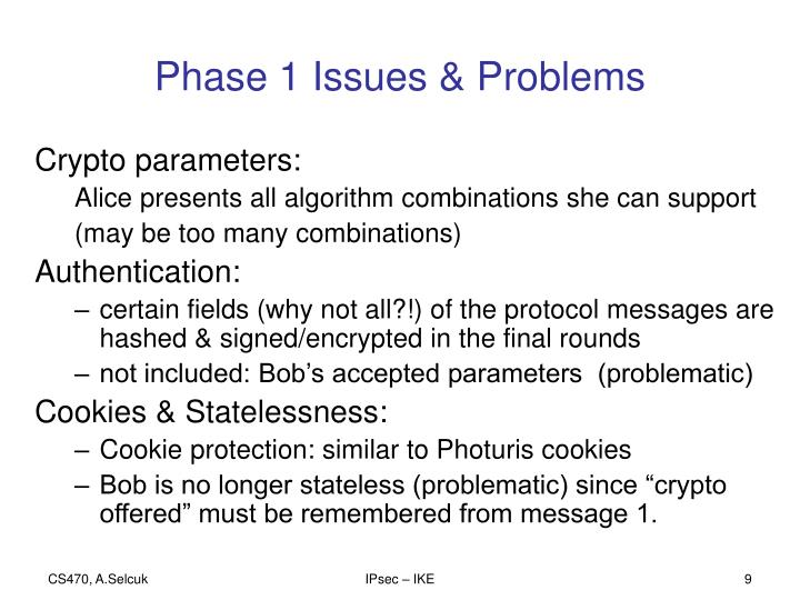 Phase 1 Issues & Problems