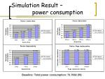 simulation result power consumption