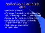 benzoic acid salicylic acid
