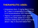 therapeutic uses2