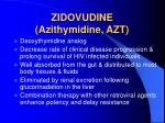 zidovudine azithymidine azt