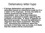 defamatory letter hypo