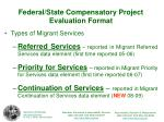 federal state compensatory project evaluation format1
