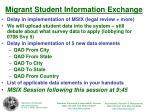 migrant student information exchange