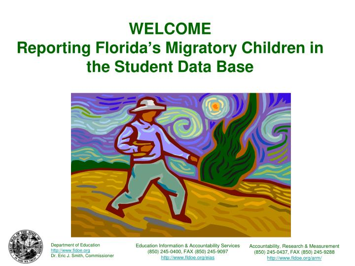 welcome reporting florida s migratory children in the student data base n.