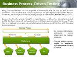 business process driven testing